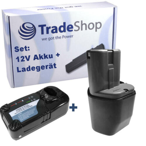 Chargeur pour Hitachi wh12dc wh12dh wh12dk 2in1 set Batterie 12v 3000mah ni-MH