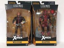 LOT of 2 X-Men Marvel Legends 6-Inch Wave OLD MAN LOGAN WOLVERINE + DEADPOOL