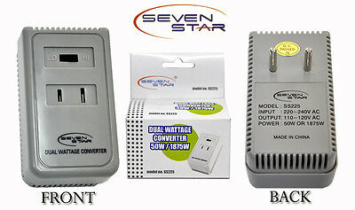 50W/1875W Step Down dual voltage Converter 220v to110v