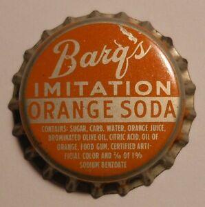 Soda pop bottle caps Lot of 12 BARQS ORANGE SODA cork lined unused new old stock