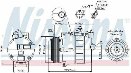 Klimaanlage 89022 für MERCEDES-BENZ CHRYSLER NISSENS Kompressor