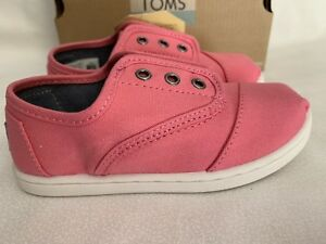 e812048f46d Tiny Toms Cordones Bubblegum Pink Canvas slip-on Toddler shoes US ...
