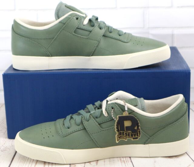 e30fe6a0fde94 Reebok Classics Workout Low Clean FVS Lux Green Men s Lace Up Trainers  Sneakers