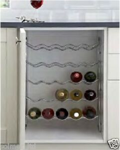 Image Is Loading Chrome Kitchen Cabinet Unit Wine Rack Available To