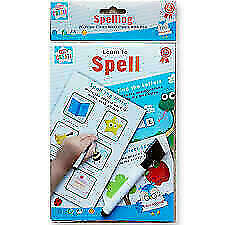 PEN Reusable Writing Practise Pad LEARN TO SPELL A5  Wipe Clean Worksheets