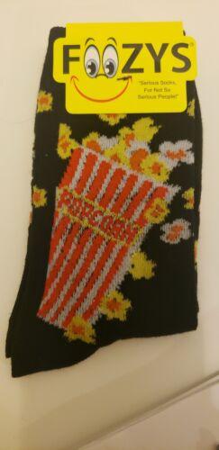 Details about  /Foozys women socks popcorn black polyester blend