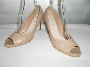 Women-039-s-Cole-Haan-Grand-OS-Taupe-Leather-Open-Toe-Pumps-Size-9-5-B