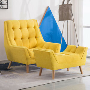 Details About Deluxe Chenille Fabric Relax Lounge Tub Chair Armchair Sofa With Footrest Pillow