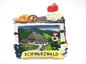 Schwarzwald-Black-Forest-3D-Poly-Fridge-Magnet-Souvenir-Germany