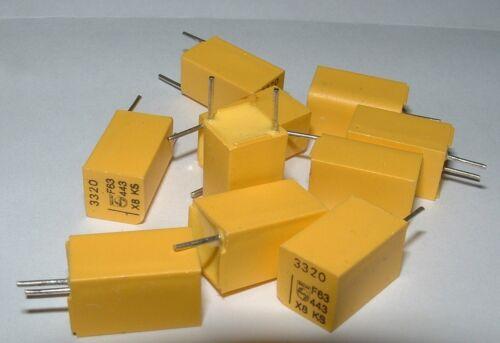 10 Polystyrene 3320pf 1/% 63V capacitor Philips 2222-443-83322 3300pf 3N3 3.3nf