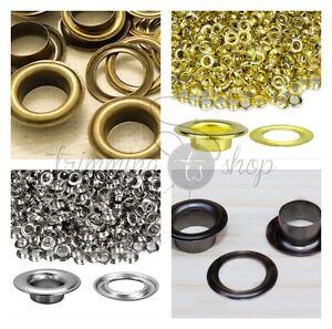 12mm Bronzes Oeillets Avec Rondelles Pour Bannières Cuir Artisanat Vinyle X100