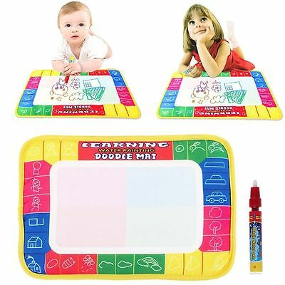 0Water Drawing Painting Writing Board Mat Magic Pen for Kids Children Toys Gifts