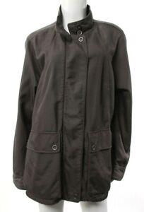 Eileen-Fisher-Women-039-s-XL-Brown-Jacket-Full-Zip-Pockets-Casual-Cotton-Blend-EUC