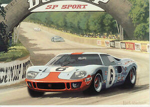 Details About Gulf Ford Gt40 Le Mans Du Mans 1969 Jacky Ickx Jackie Oliver John Wyer Card