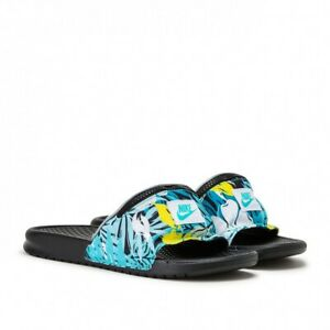 adolescentes tienda de comestibles relajado  Nike Benassi JDI Fanny Pack Print Slide-Jade/Blk-Men's 13 #CJ2967 300  192502643691 | eBay