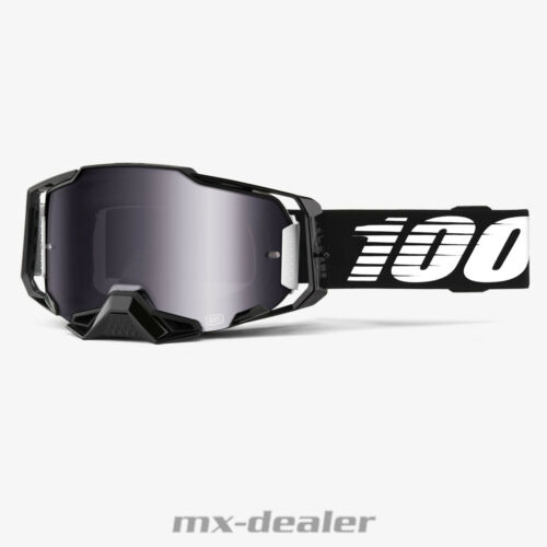 100 /% Armega 2020 Black Nuclear Circus Lightsaber MX Motocross Cross Brille MTB
