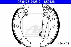 Bremsbackensatz für Bremsanlage Hinterachse ATE 03.0137-0126.2