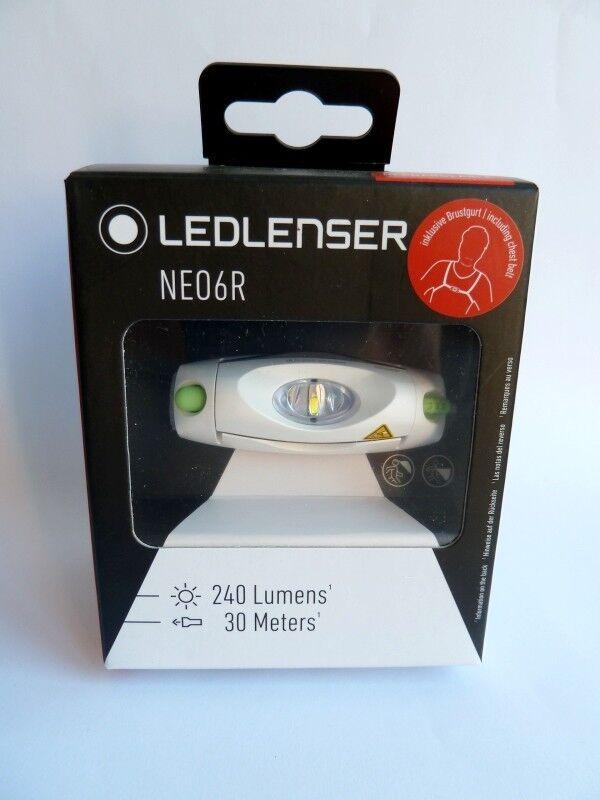 LED LENSER NEO6R  500919 Kopflampe Stirnlampe grün aufladbar Neuheit  240 Lumen