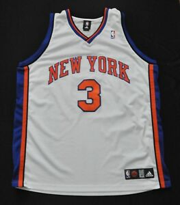 hot sale online f72d8 7e668 Details about TRACY MCGRADY New York Knicks Jersey TMAC Adidas Authentic  White 52 2XL RARE