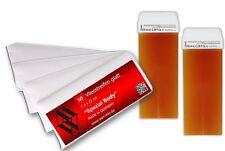Enthaarung Nachfüll Set 2 Wachspatronen Honig + Vliestreifen für Haarentfernung