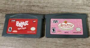 Bratz: Rock Angelz & Strawberry Shortcake Games GameBoy Advance