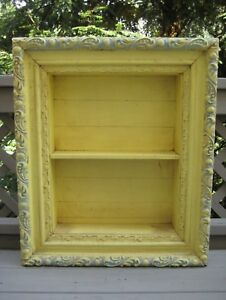 Details About Antique Shadow Box 3 Tier Ornate Frame Wooden Shadowbox 27 25 H 23 W 5 D