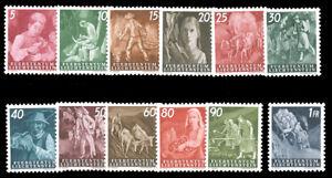 Liechtenstein-247-258-MNH-MLH-1951-AGRICULTURE-SET-254-257-258-MNH