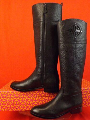 9b1541ffeb88 4 of 12 Nib Tory Burch Kiernan Black Tumbled Leather Reva Tall Riding Boots  7.5  495