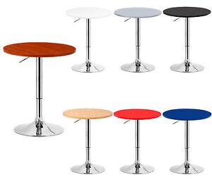 1 Table De Bar En Mdf Robuste Et Acier Chrome Reglable Cuisine Table