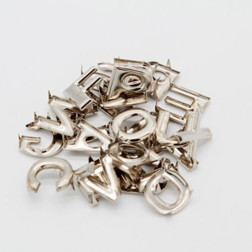130Pcs DIY English Letter Metal Leathercraft Rivets Claw Studs for Bags Hats