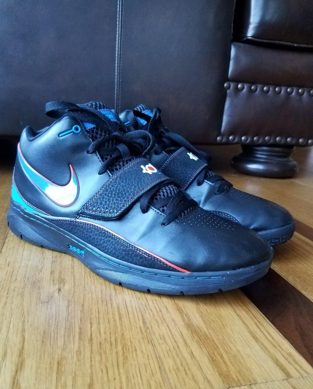 Nike Men's KD 2 Kevin Durant Black Blue Basketball Sneaker Shoe 386423 Size 13