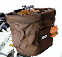 Avenir SoftSide Quick Basket Handlebar Handle Bar Bicycle Bike Bag Brown New
