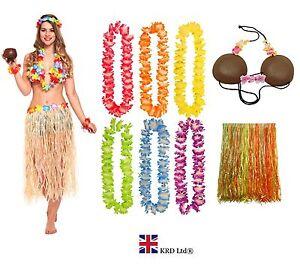 HAWAIIAN FANCY DRESS COSTUME Ladies Hula Coconut Bra Lei Garland Hen Party Lot o4uF3qFH-09144155-382526506