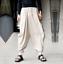 Men/'s Baggy Hakama Linen Trousers Cargo Pants Fashion Japanese Samurai Trousers