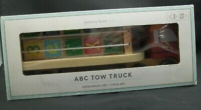 Pottery Barn Kids Abc Tow Truck Toy Play Truck 2154 Ebay
