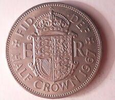 1967 GREAT BRITAIN 1/2 CROWN - Excellent Vintage Coin - Britain Bin #3/1