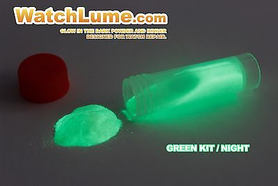 GREEN GLOW IN THE DARK PAINT WATCH LUME™ LUMINOUS PASTE KIT LUME FOR WATCH HANDS