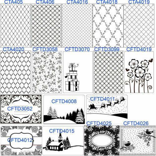 Natale Cornici Pattern Inviti Fiori Crafts Too Cartelle Goffratura