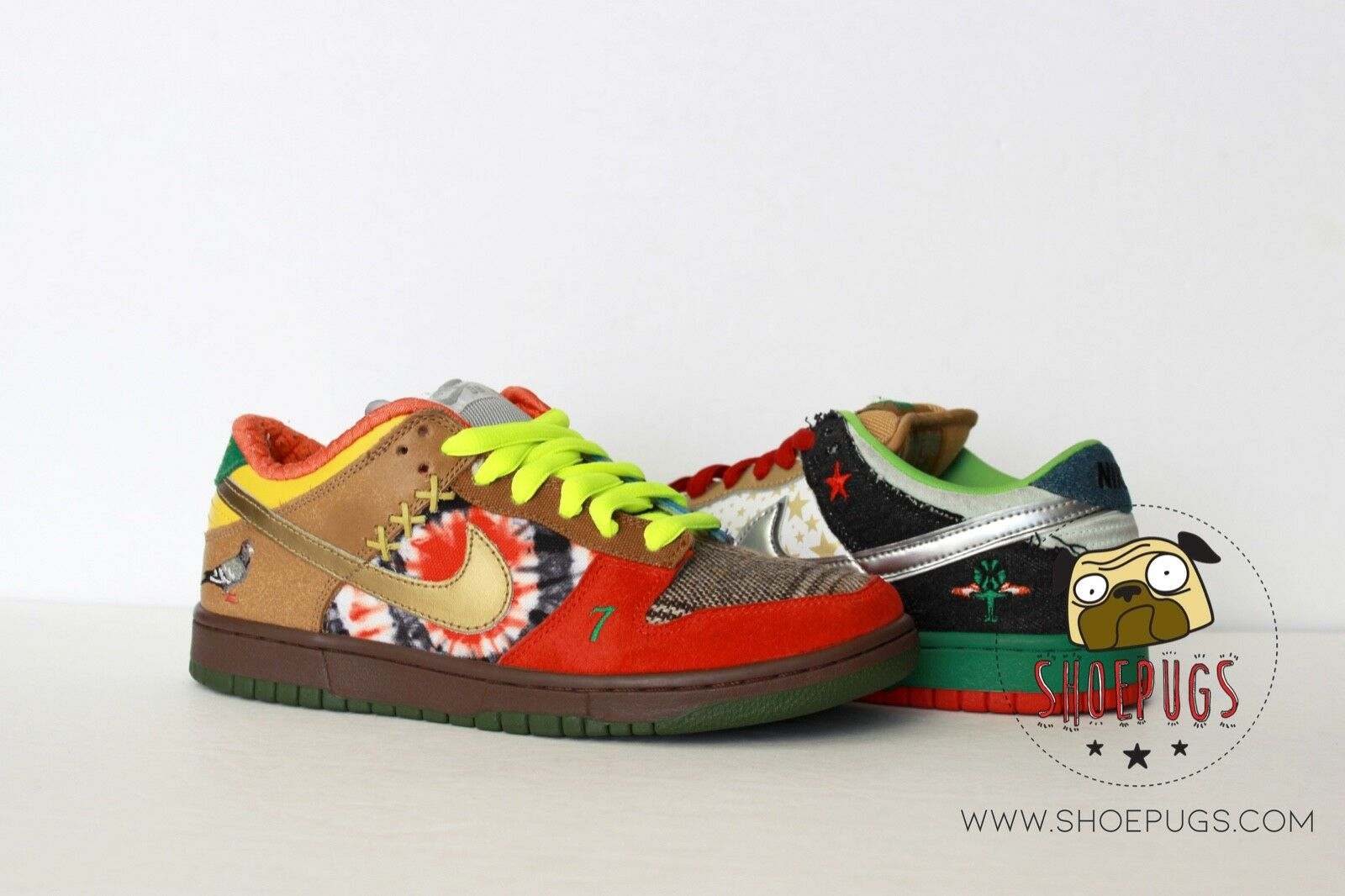 2007 Nike Dunk SB Low What The Dunk sz 7 w  Box & Receipt   TRUSTED SELLER
