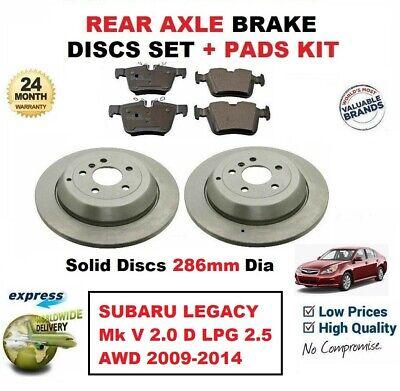 Arrière PLAQUETTES DE FREIN s/'adapter Subaru Legacy 1998-2016 2.0 2.5 3.0 R AWD RSK Saloon Estate