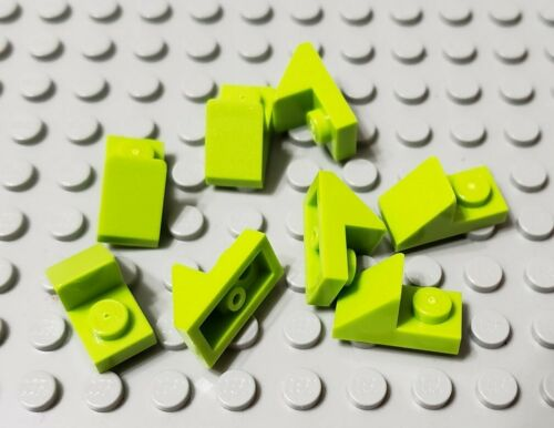 LEGO New Lot of 8 Lime Green 2x1 Cutout Slope Pieces Friends