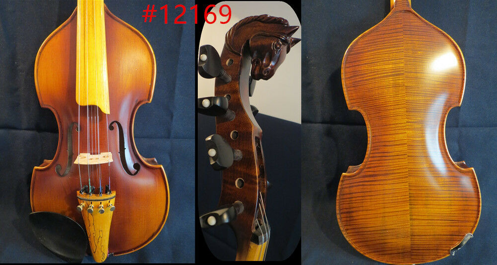 Baroque style SONG Master 4×4 strings 14  purple d'Amore,Horse head scroll