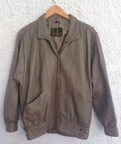Ben anni Leather '80 Pockets Taglia Grigio 8 The Collezione Big London Vintage Jacket ZRzq5Ow