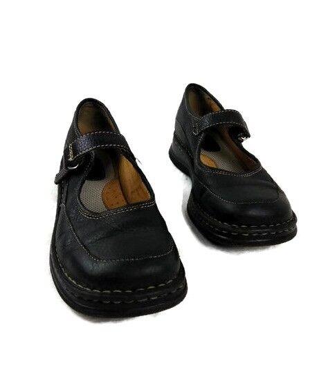 Born Women's Black Leather Mary Jane shoes Size 4 Euro 35
