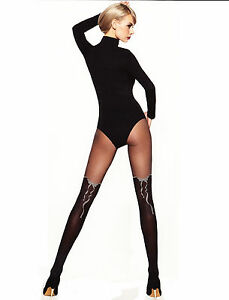 NEW-MOCK-SUSPENDER-TIGHTS-034-AMELIA-034-20-40-Denier-Imitating-Hold-Ups-Style