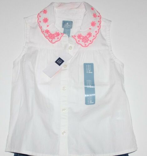 baby Gap NWT Girl/'s 18 24 Mo 3T 4T 5T White Sleeveless Blouse Shirt Top w Eyelet