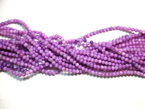 Coquillages Perles 4 mm violet nacre 1 Strang Balle 65stk pierres Best u169
