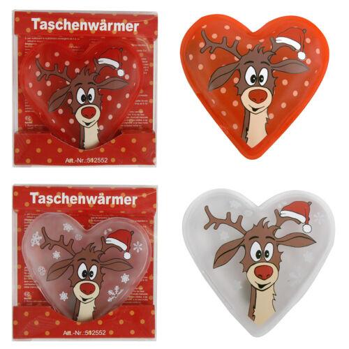4 x taschenwärmer reno corazón forma handwarmers calientamanos almohadilla calor almohada