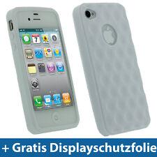 Weiß Weiss Gel TPU Tasche für Apple iPhone 4S 16GB 32GB 64GB Hülle Schutz hülle