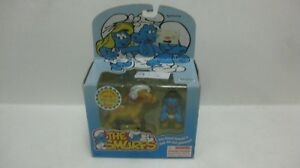 The-Smurfs-Cowboy-Smurf-amp-His-Rocker-Diecast-Figure-By-Toy-Island-1996-NEW-t1210
